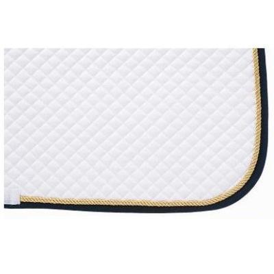 Mantilla acolchada blanca con cordón y ribete