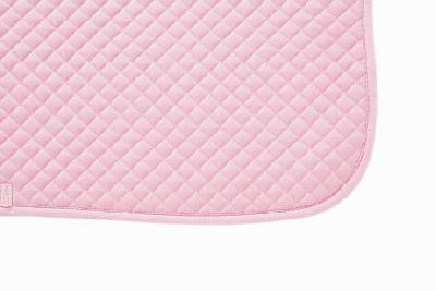Mantilla acolchada cuadraditos rosa