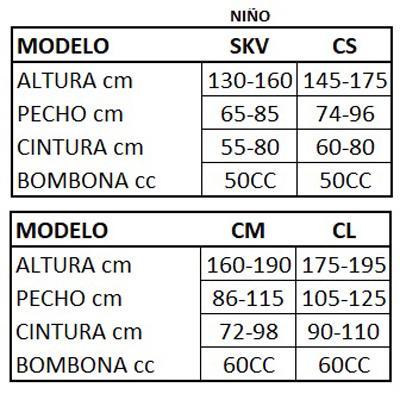 Chaleco AIRBAG HIT-AIR S-XL (CM)