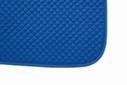 Mantilla acolchada cuadraditos azul royal
