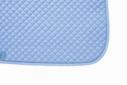 Mantilla acolchada cuadraditos azul claro