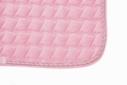 Mantilla acolchada grueso de ante sintético rosa