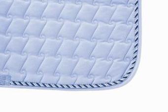 Mantilla acolchada grueso de ante sintético azul claro
