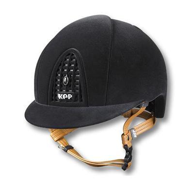 Casco KEP Italia cromo de ante Grid en negro