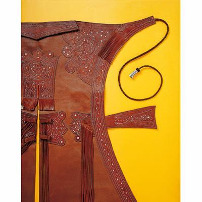 Zahones artesanos de becerro categoria 2. Niño