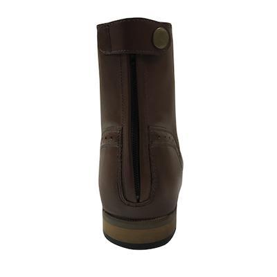 Botin Rigoleto cuero con cordones y cremallera trasera Expert Boots