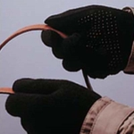 Guantes de algodón con puntos de goma adhesiva
