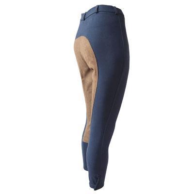 Pantalon de microfibra con cuero