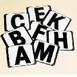 Letras para doma para atornillar (4 letras)