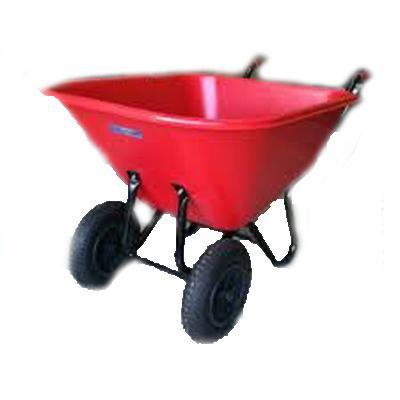Carretilla polietileno 2 rueda para estiercol 300 litros