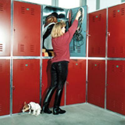 Arcón guadarnés classic apilable metático Lehmann puerta pintada