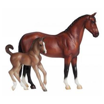 Breyer 62033/591051 Blood bay warmblood and foal