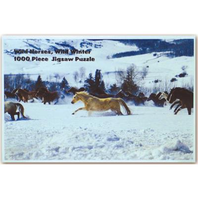 Puzzle caballos en la nieve (1000 piezas)