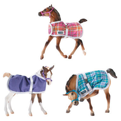 B2475 - Foal Blanket - 3 pieces Assortment with halter