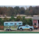 B5350 - Stablemates Pick up Truck & Gooseneck Trailer