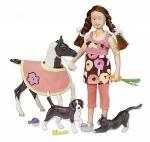 B61047/591061 Pet sitter set (muñeca, potrillo y animales