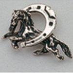 Pin en plata caballo con herradura