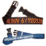 Collar bordado Nombre + Teléfono
